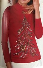VICTORIA'S SECRET CHRISTMAS TREE SEQUIN HOLIDAY COLLECTION SWEATER S SMALL  SFS