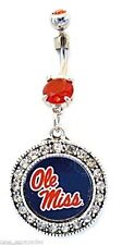 Belly Ring College Ole Miss Dangle Naval Body Jewelry