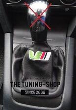 "For Skoda Octavia 2 04-09 Gear Stick Gaiter Black Leather ""VRS"" Embroidery"