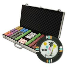 New 750 Desert Heat 13.5g Clay Poker Chips Set with Aluminum Case - Pick Chips!