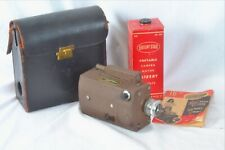 16mm movie camera electric drive Lectro vintage with C mount kodak 25mm 2.8 lens