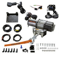 Kolpin 4500lb ATV Winch Kit Steel Cable UTV Sportsman RZR 12V Universal 25-9450