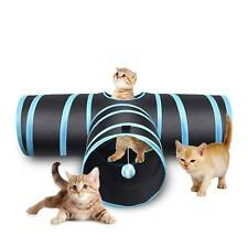 3 Way Pet Cat Tunnel Toy 3 WAY Y Shape Foldable Kitten Play Exercise Tunnel Cave