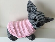 """xxs 6"""" long knitted pink Dog Coat Jumper for chihuahua yorkie pug teacup puppy"""