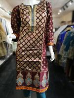 Indian Pakistani Shalwar Kameez Salwar Saree Suit Dress Designer Kurta Plum