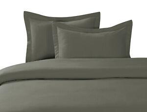 NEW 2/3PCS SET COMFORTER DUVET SOLID BED COVER TOP ELEGANT HOME DECOR ALL SIZES