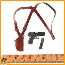 Spy Killer - Pistol & Leather Shoulder Holster - 1/6 Scale Vortoys Action Figure