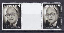 Gibraltar 1997 postfrisch Stegpaare MiNr. 813   Joshua Hassan