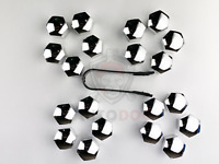 20Pcs Chrome Universal Trim Wheel Nut Screw Bolt Covers Caps 19mm + Removal tool