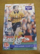 30/12/1995 Bolton Wanderers v Coventry City  . Thanks for viewing this item, buy