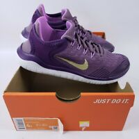 Nike Free RN 2018 (GS) Youth Girls 4 Womens Running Shoes AH3457 500 Violet Gold