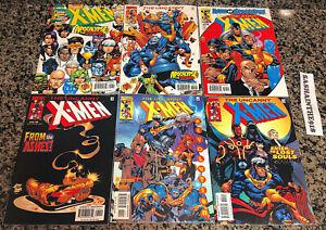 The Uncanny X-Men Lot of 6 376-379 381B 382 Marvel 2000 VF Claremont