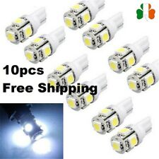 10pcs  T10 LED Light 12V 5050 5SMD 6000K 194 168 W5W