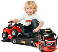 Toy Truck With Loader Tractor Play Car Set Large Car Set of 2 Vehicles