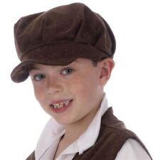 Childrens Victorian Boy Oliver Twist Cap Book Week Fancy Dress Costume P6946