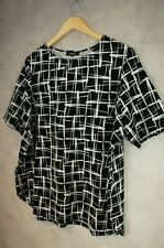 Black and white patterned top New look size 22