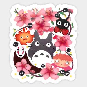 Ghibli Miyazaki Spirits Totoro Ponyo Jiji Vinyl Decal Wall Decor Laptop Sticker