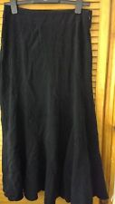 Women's black suede feel sof full length Maxi skirt Next size 10