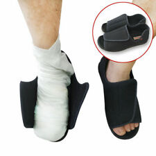 Men's Extra Wide Adjustable Diabetic Slippers, Comfort Sandals for Swollen Feet