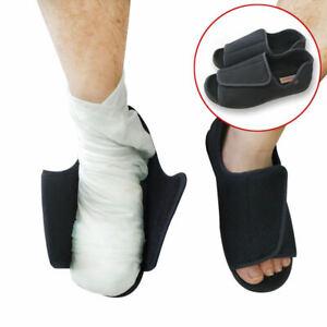 Men's Extra Wide Adjustable Diabetic Slippers, Comfort Sandals for Swollen Feet