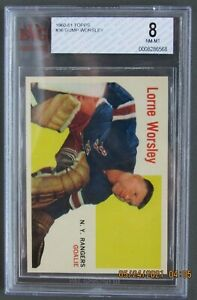 1960-61 TOPPS #36 LORNE GUMP WORSLEY GRADED BVG 8 NM-MT HOFer AWESOME