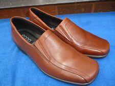 Ladies ECCO Tan Leather Shoes size 40 EU / 7 UK , Excellent Condition.