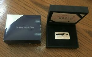 """Singapore Airlines 0.800 silver ingot """"The Great Wall of China"""", 400 grains"""