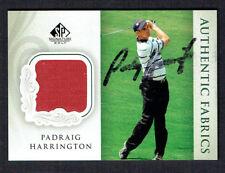 Padraig Harrington #AF-PH signed autograph 2004 Upper Deck SP Authentic Fabrics