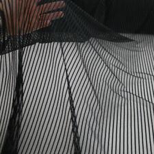 Designer-Gitterstoff in schwarz - gestreift Meterware Unisex Netz-Kleid Sexy