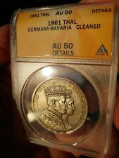 ANACS Germany Prussia 1861 Silver thaler This Coin Is Gorgeous!!