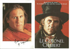 4 Gerard Depardieu Postcards incl Cyrano De Bergerac, Le Colonel Chabert P2325