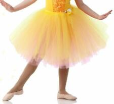 Romantic Tutu Only Dance Costume Buttercup Ballet Yellow & Pink - Child 6x7