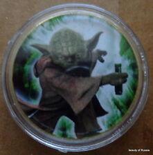 STAR WARS    YODA  24K GOLD plated coin  40 mm  #16 S