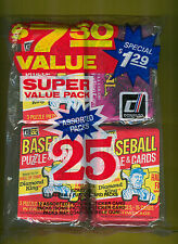 1982 Donruss Baseball Fun Bag with 13 Baseball, 6 Dark Crystal, 6 Assorted Packs