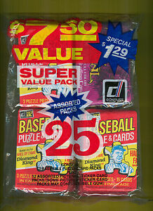 1982 Donruss Baseball Fun Bag with 13 Baseball, 6 Dark Crystal, 6 Assorted Packs