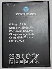TrendON 3200mAH Li-ion spare replacement battery for LG V20 [12-Month Warranty]
