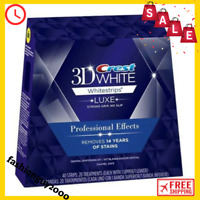 PAIRS/BOX CREST 3D WHITE LUXE WHITE STRIP WHITENING PROFESSIONAL EFFECTS ORGINAL