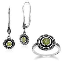 Conjuntos de joyas con diamantes o gemas peridoto