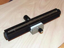 OLYMPUS OM FOCUSING RAIL FOR AUTO MACRO BELLOWS OR FOCUSING STAGE
