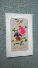 WWI EMBROIDERED SILK POST CARD