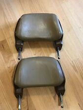 OEM Volvo 240 244 245 brown later style front seat headrest Set Two 1986-1993