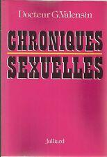 DOCTEUR G. VALENSIN CHRONIQUES SEXUELLES