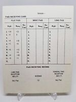 Strat-O-Matic Football Blank Running / Pass Receiving Card Lg Format Original