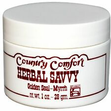 COUNTRY COMFORT HERBAL SAVVY GOLDEN SEAL MYRRH BODY CARE HEALTHY OINTMENT