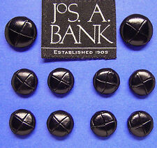 JOS A BANK BLACK LEATHER REPLACEMENT JACKET BUTTONS METAL LOOP SET OF10 $29.95