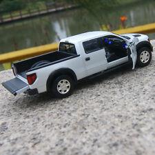 Ford F-150 SVT Raptor Model Car 1:32 Sound&LightAlloy Diecast Toys Pickup White