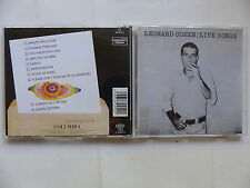 CD Album LEONARD COHEN Live songs 484454 2