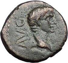 AUGUSTUS 27BC Philippi Macedonia Colonists Founding City Oxen Roman Coin i55778
