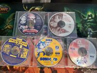 Pc Sega SONIC Family Fun Pak Collection Video Game Lot Sonic R, CD MUST SEE!