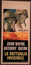 Locandina LA PATTUGLIA INVISIBILE 1945 JOHN WAYNE ANTHONY QUINN PARAMOUNT